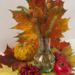 Bouquet of autumn maple leaves with crops - Lizenzfreies Foto