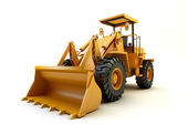 Front end loader isolated on white — Stockfoto