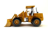 Front end loader isolated on white — Stock Photo