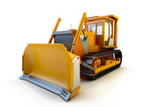 Bulldozer isolated on white — Stock Photo