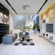 Interior of a modern house with living room and dining — ストック写真