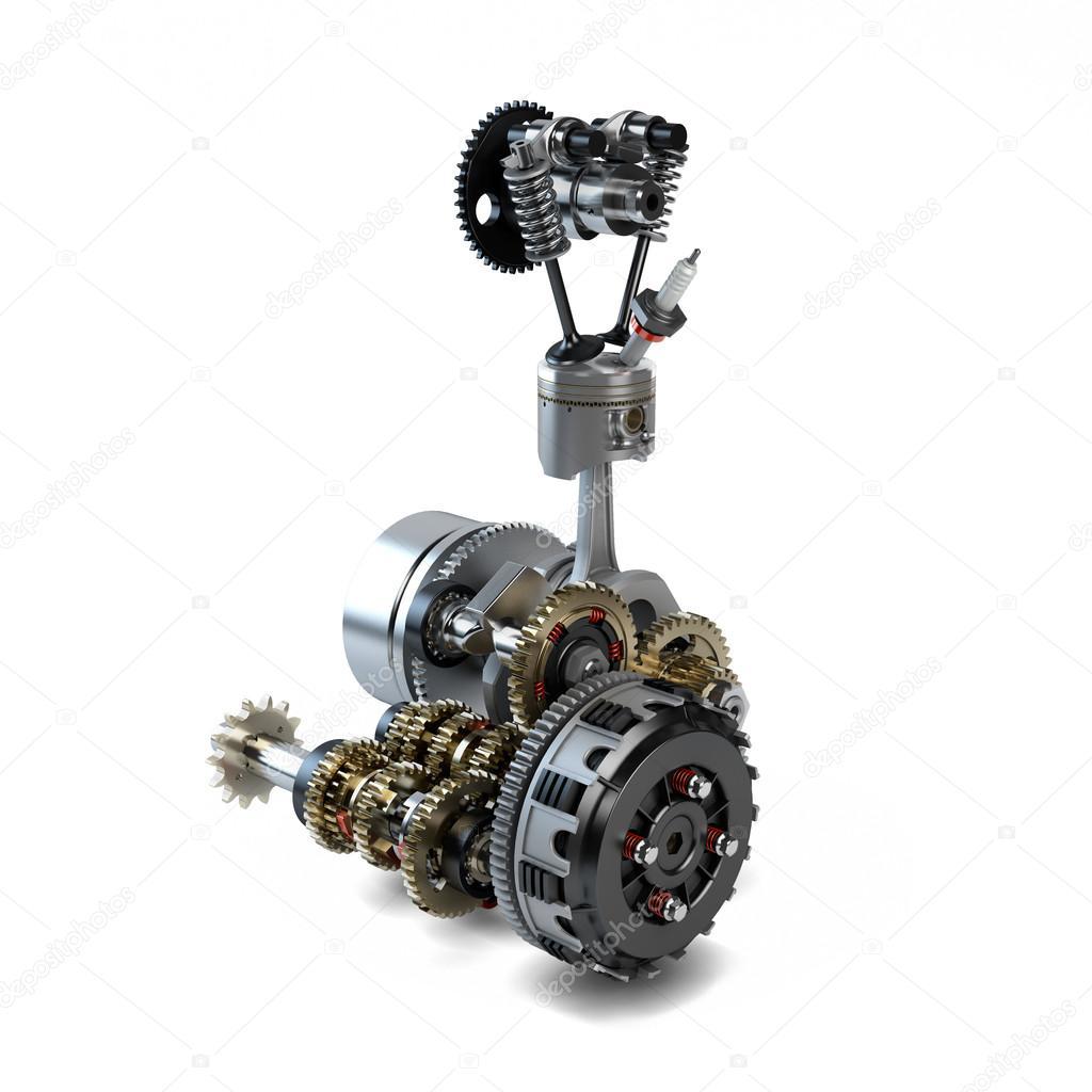 разобранного двигателя