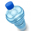 Stock Photo: Bottle of water isolated over white background
