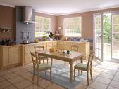 Interiér moderní kuchyně — Stock fotografie