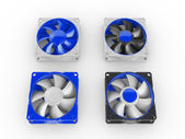 Computer performance cooling fans isolated on white background — Stock Photo