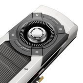 Powerful computer graphic card on white background — Stock Photo