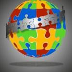 Puzzle globe 2 — Stock Vector #12205086