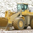 Heavy front loader in open pit — Foto Stock