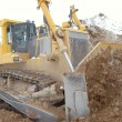 ストック写真: Bulldozer in open pit