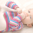 Funny baby girl — Stock Photo