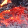 Stock Photo: Burning charcoal