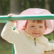 Baby girl at the playground — Stock Photo