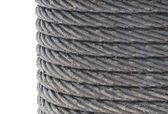 Steel rope in grease — Stock Photo