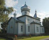 Antiga igreja de crentes em mustvee, estónia — Foto Stock