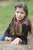 Portrait of beautiful teenage girl — Stock Photo