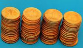 Column of coins — Stock Photo