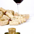 Corks Verse Screwcaps — Stock Photo