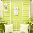 Stock Photo: Door and Patio Furniture