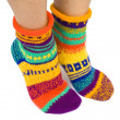 WomWearing Pair of Wool Socks — Stock Photo #12116995