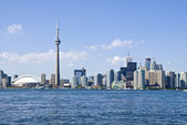 Toronto Skyline and the CN Tower — Stock Photo