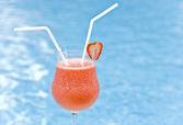 Strawberry daiquiri für zwei — Stockfoto