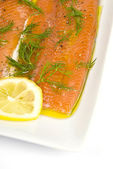 Marinated Trout with Dill and Lemon — Stock Photo