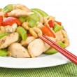 Stir Fried Chicken with Cashew Nuts and Vegetables — Stock Photo #12245296