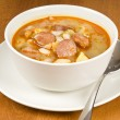 Stock Photo: Hearty BeSoup with Sweet Sausages