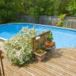 Above Ground Swimming Pool — Stock Photo