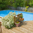 Stock Photo: Above Ground Swimming Pool