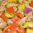Stock Photo: Close-up of Stir Fried Pork Tenderloin and Vegetables