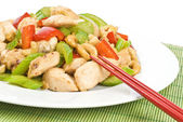 Stir Fried Chicken with Cashew Nuts and Vegetables — Stock Photo