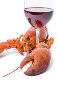 Lobster and Wine — Stock Photo