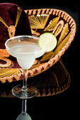 Sombrero and Margarita Cocktail — Stock Photo