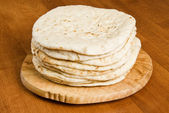 Pile of Pita Bread — Stock Photo
