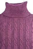 Suéter de cuello alto color púrpura aislado en blanco — Foto de Stock