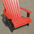 Red Adirondack Chair — Stock Photo