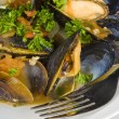 Steamed Mussels — Foto de stock #12339981