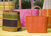 Pretty Weaved Hand Bags — Stock Photo