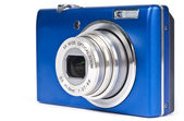 Blue Digital Camera Isolated on White — Stock Photo