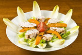 Grilled Chicken Breast Salad — Stock Photo