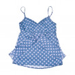 Blue Polka Dot Tank Top Isolated on White — Stock Photo