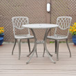 Bistro Table and Chairs on the Deck — Stock Photo