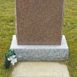 Granite Tombstone — Foto de stock #12340237