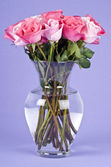 Bouquet of Pink Roses in a Vase — Stock Photo