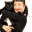 Royalty-Free Stock Photo: Woman and Her Beloved Cat
