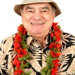 Mature Man in Tourist Outfit — Stock Photo