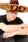Man in Sombrero — Stock Photo