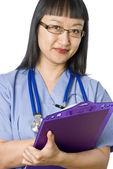 Asian Female Doctor (Nurse) — Stockfoto