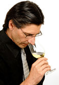 Sommelier (Wine Taster) — Stock Photo